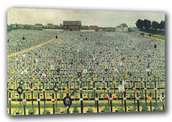 Vallotton, Felix: The Military Cemetery at Chalons. Fine Art Canvas. Sizes: A3/A2/A1 (00140)